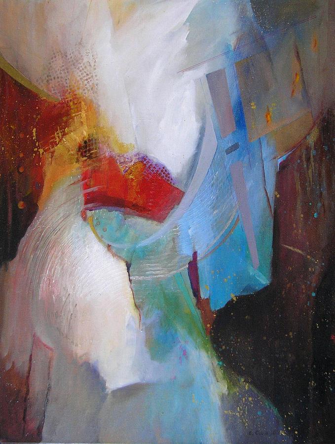 Abstract Mixed Media - Celebration by Barbara Couse Wilson