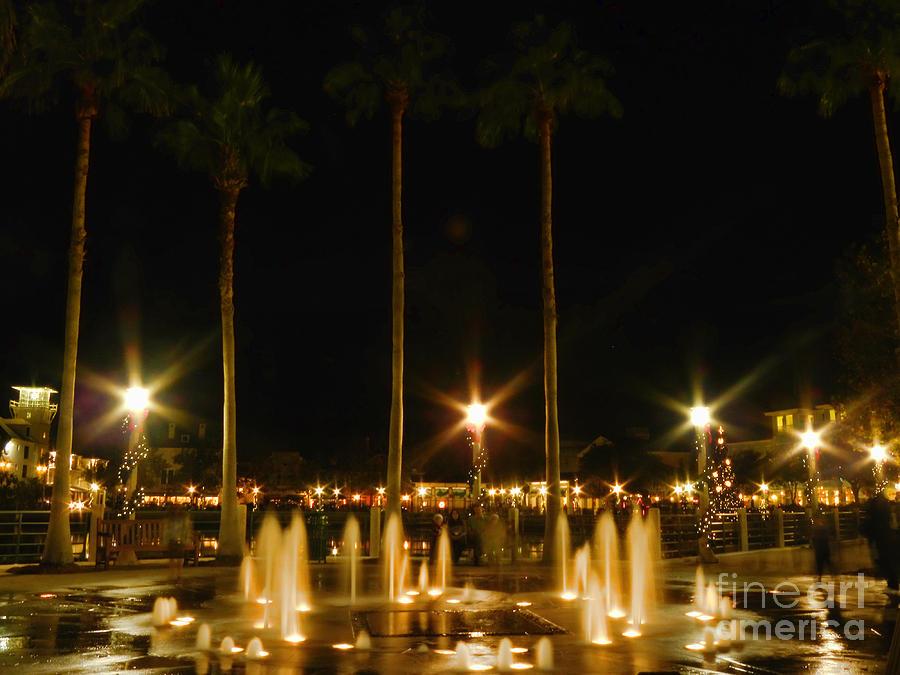 Fountains Photograph - Celebration Illumination by Becky Wanamaker