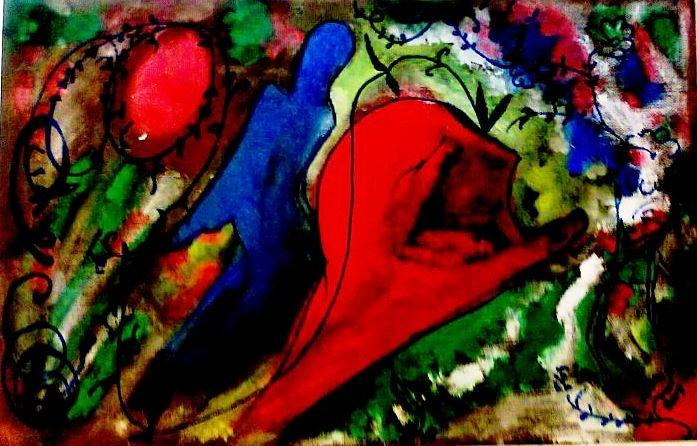 Be Painting - Celebration Of Life.. Be..5 by Rooma Mehra
