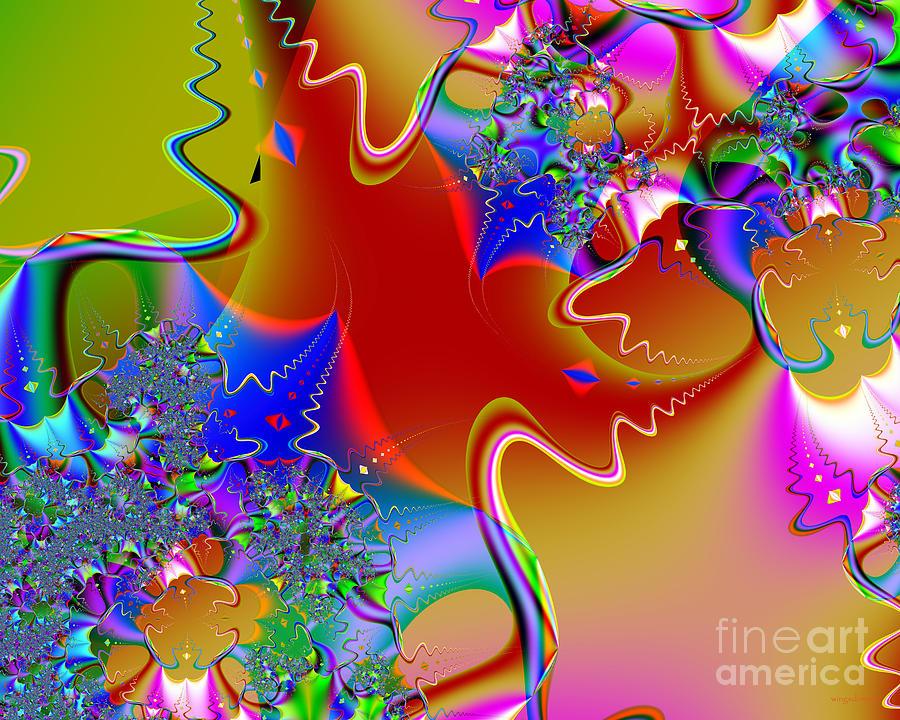 Fractal Digital Art - Celebration . S16 by Wingsdomain Art and Photography
