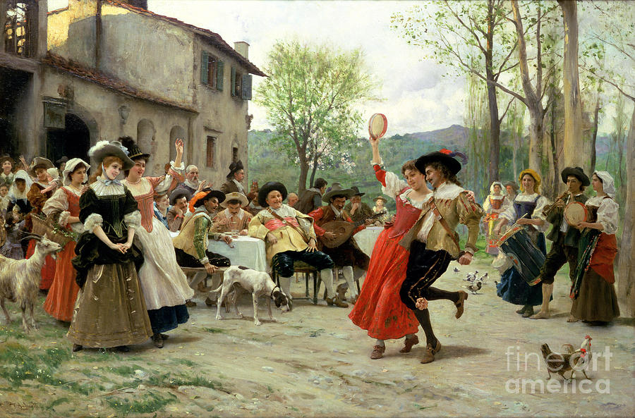 Old Painting - Celebration by William Henry Hunt