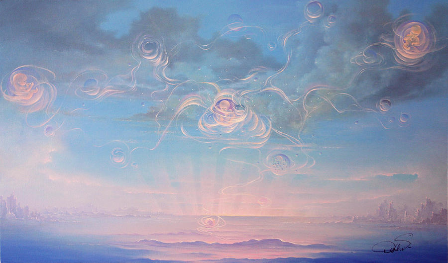 Spiritual Painting - Celestial Connection by Hans Doller