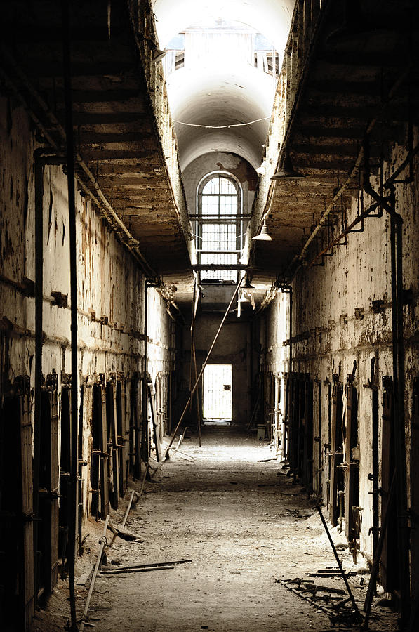 Eastern State Penitentiary Photograph - Cell Block Number 9 by Bill Cannon