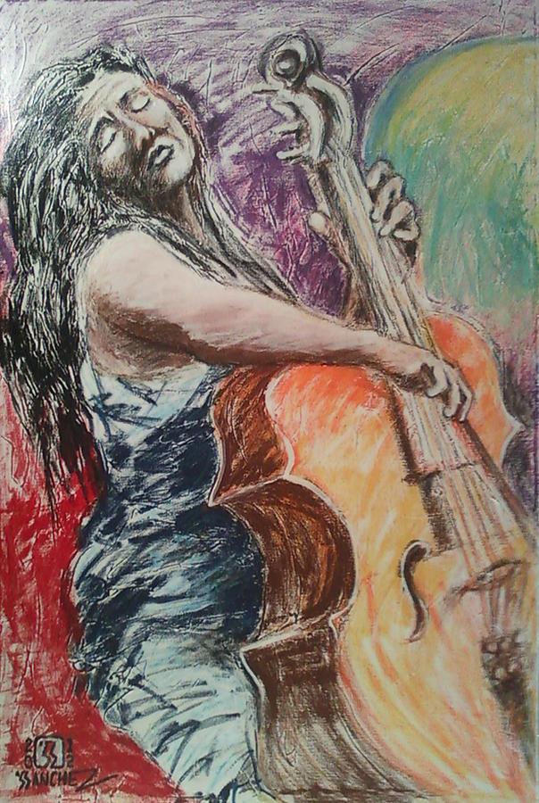 Cellist Painting by Joemar Sanchez
