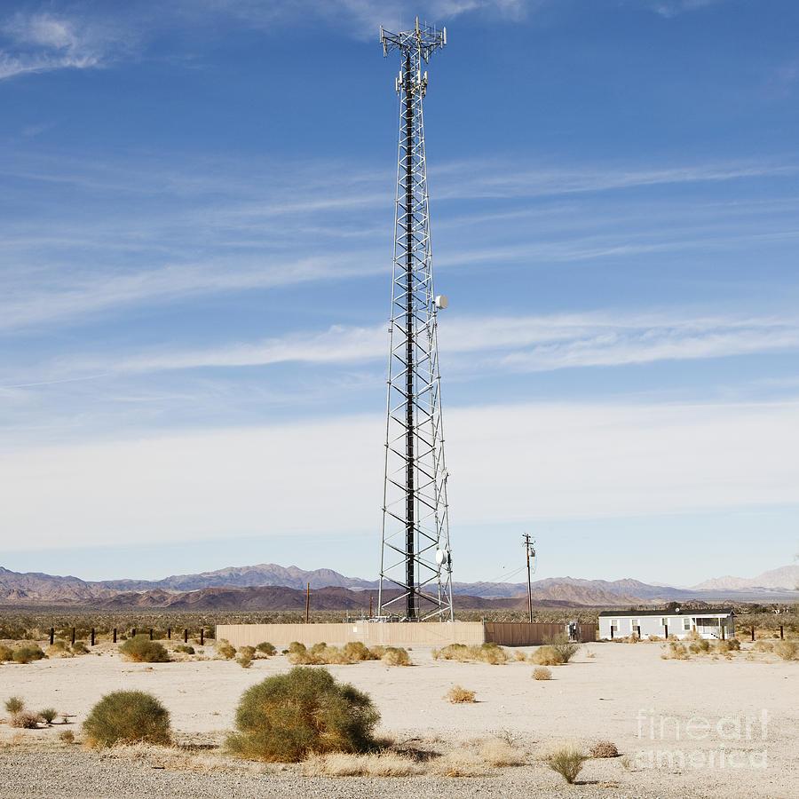 Arid Photograph - Cellular Phone Tower In Desert by Paul Edmondson