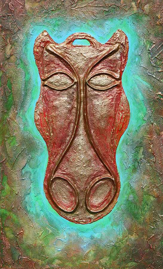 Celts Relief - Celtic Horse Head Mask by Zoran Peshich