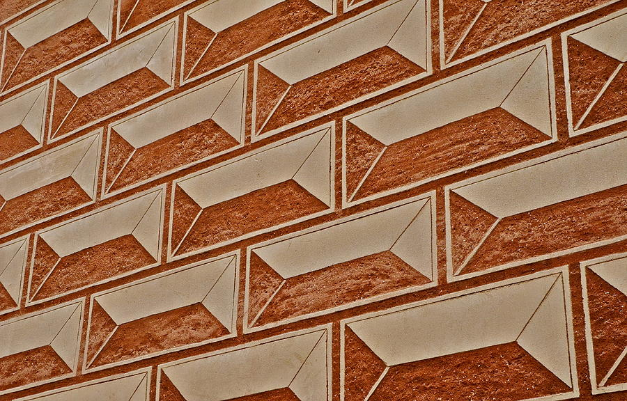 Brown Photograph - Cement Block Wall Design by Kirsten Giving