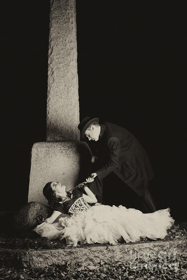 Goth Photograph - Cemetary Romance by Darcy Evans