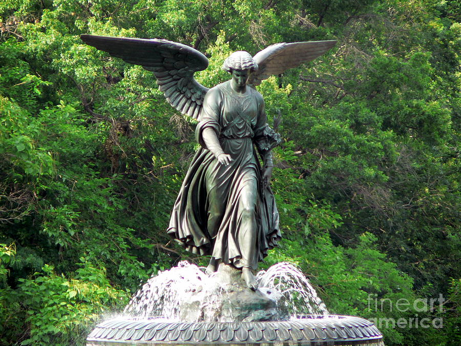 Angel Photograph - Central Park Angel by Elizabeth Fontaine-Barr