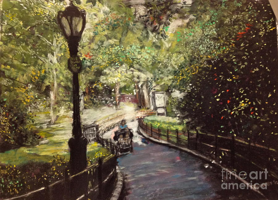 New York City Pastel - Central Park Upper East Side by Barry Rothstein