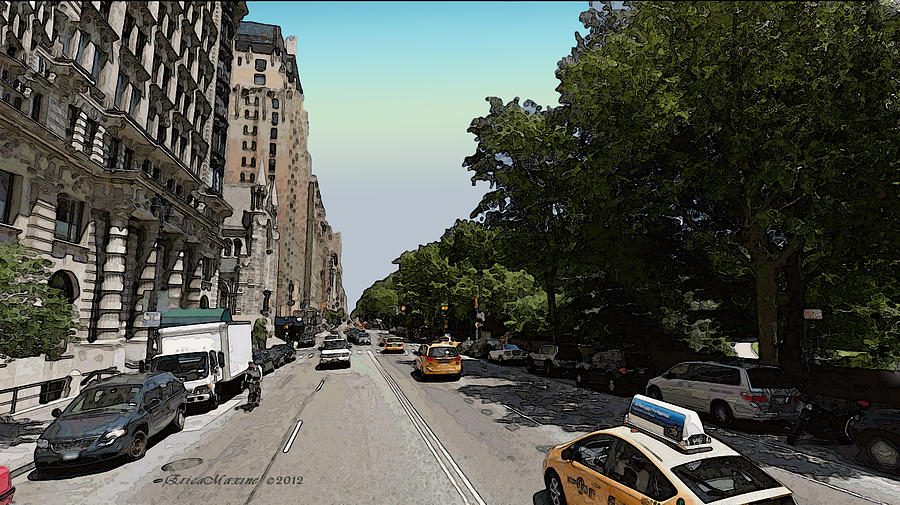 Nyc Photograph - Central Park West by Ericamaxine Price