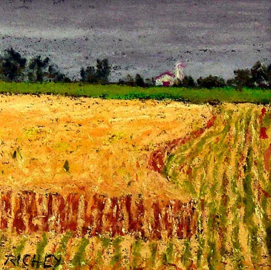 Pastel Pastel - Central Pennsylvania Summer Wheat by Bob Richey