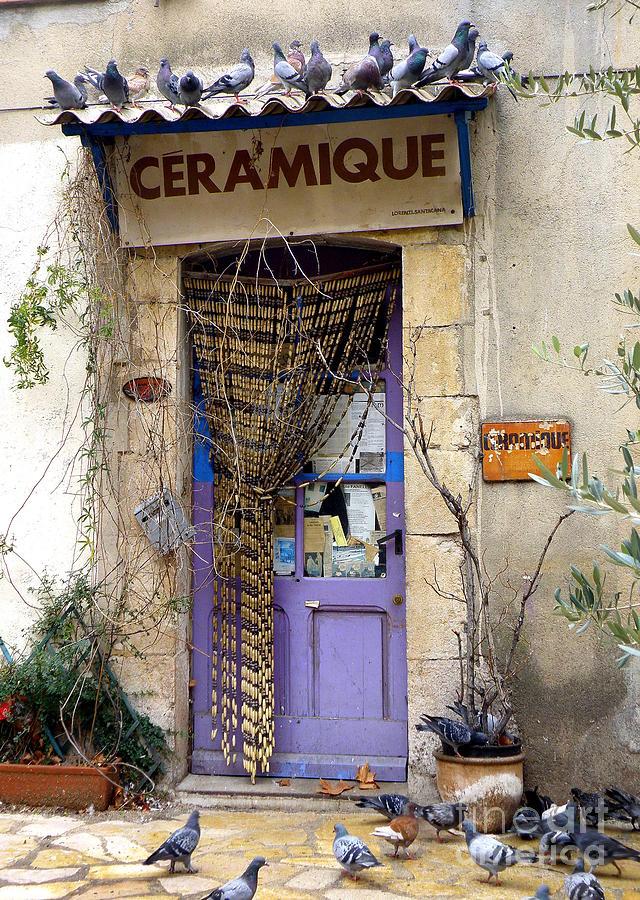 Door Photograph - Ceramique by Lainie Wrightson