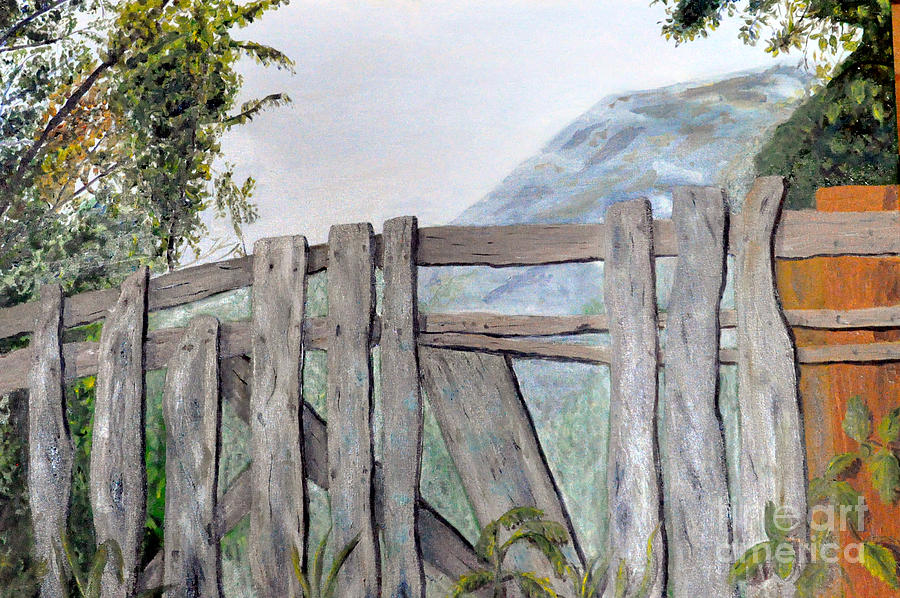 Fence painting long radiator cover