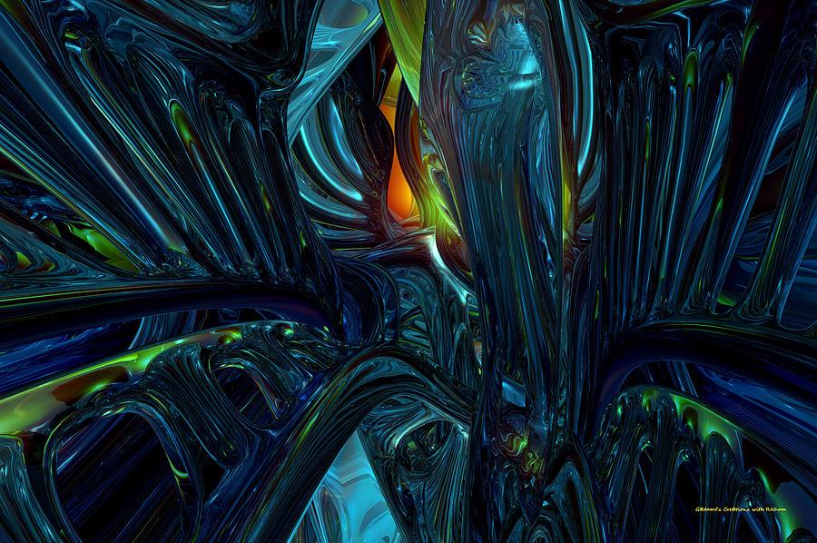 Abstract Digital Art - Certain Inner Peace Fx  by G Adam Orosco