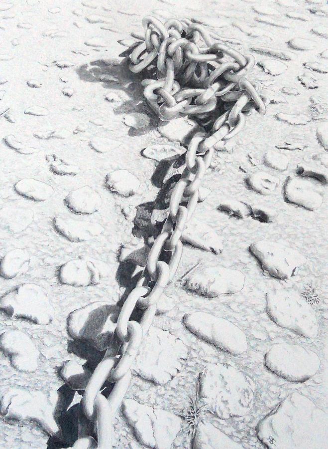 Chain Gang Drawing - Chain Gang by Carol McLagan