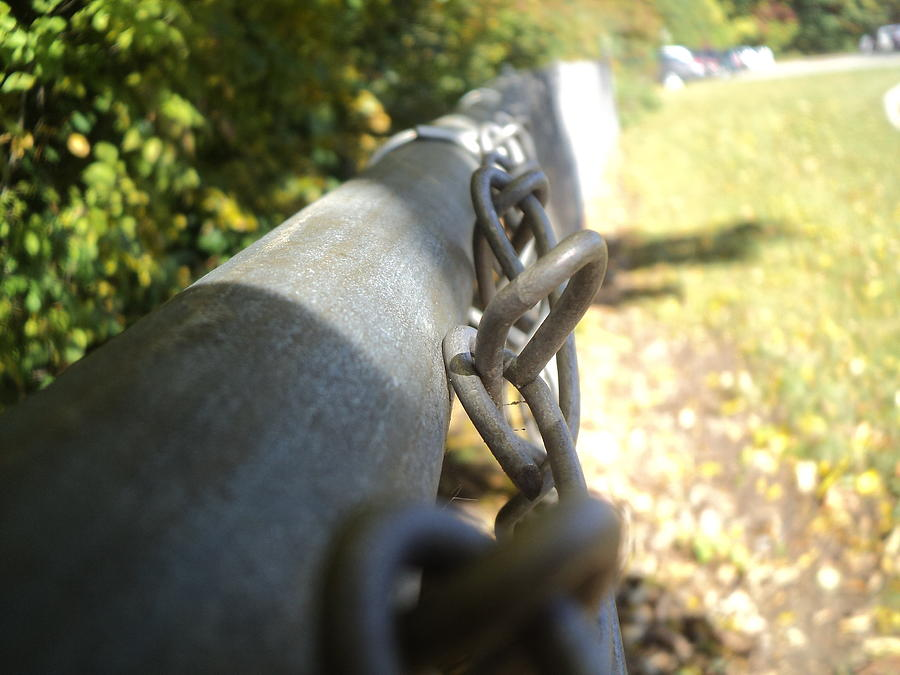 Fence Photograph - Chain-link Fence by Wes Allen