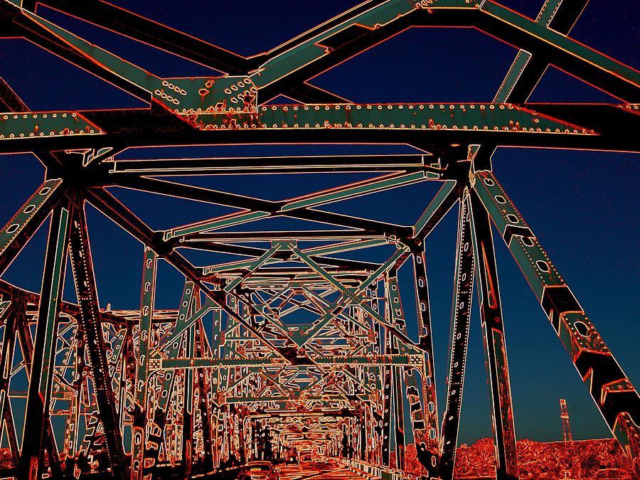 Bridge Photograph - Chain Of Rocks by J R Seymour