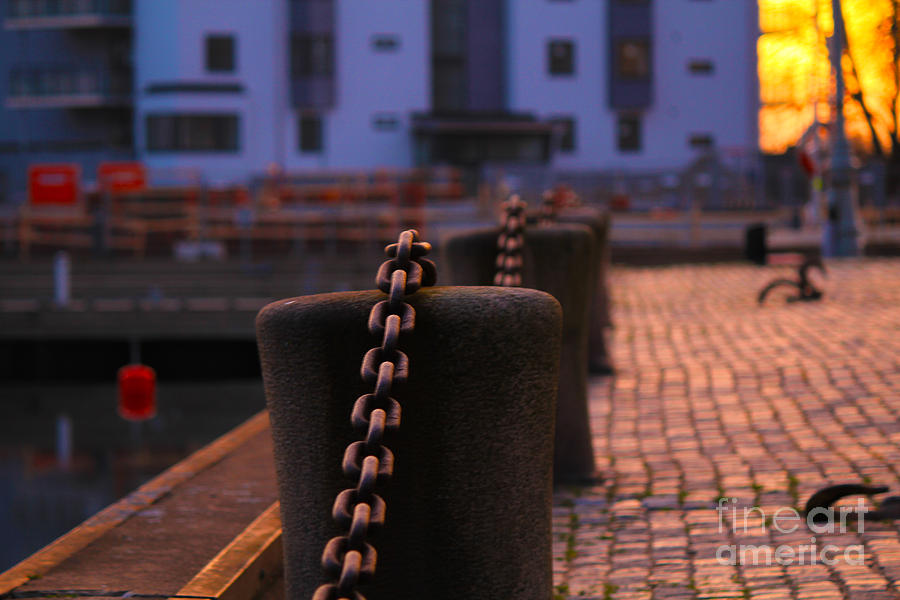 Chain Photograph - Chains by Miso Jovicic