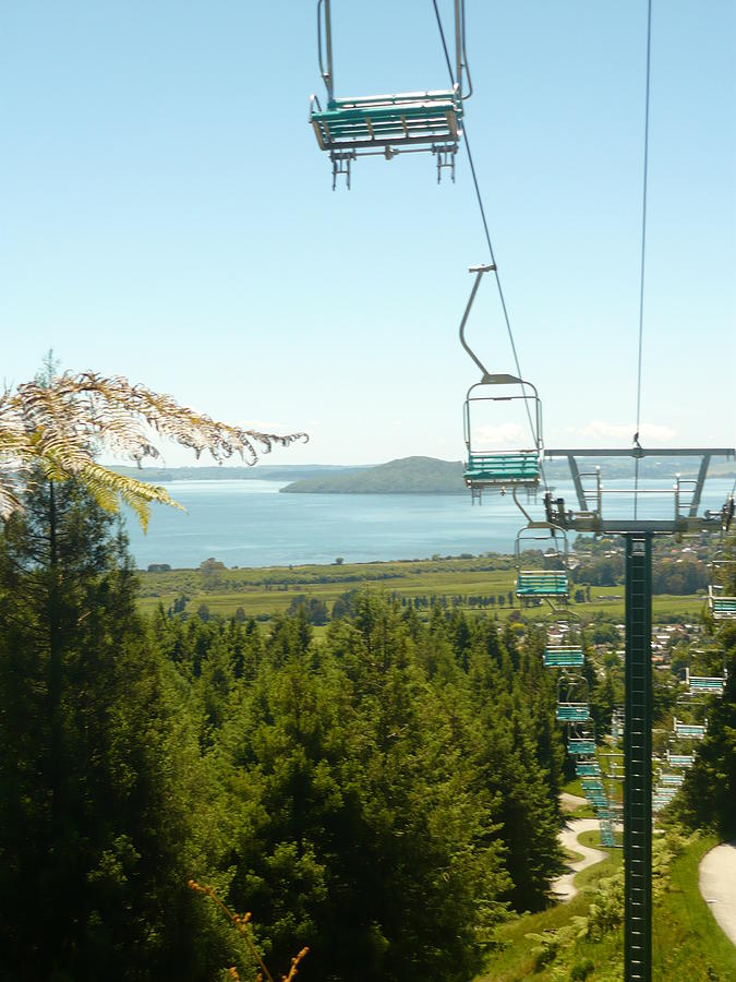 Chair Lift Photograph - Chair Ride by Amy Jayne Roper