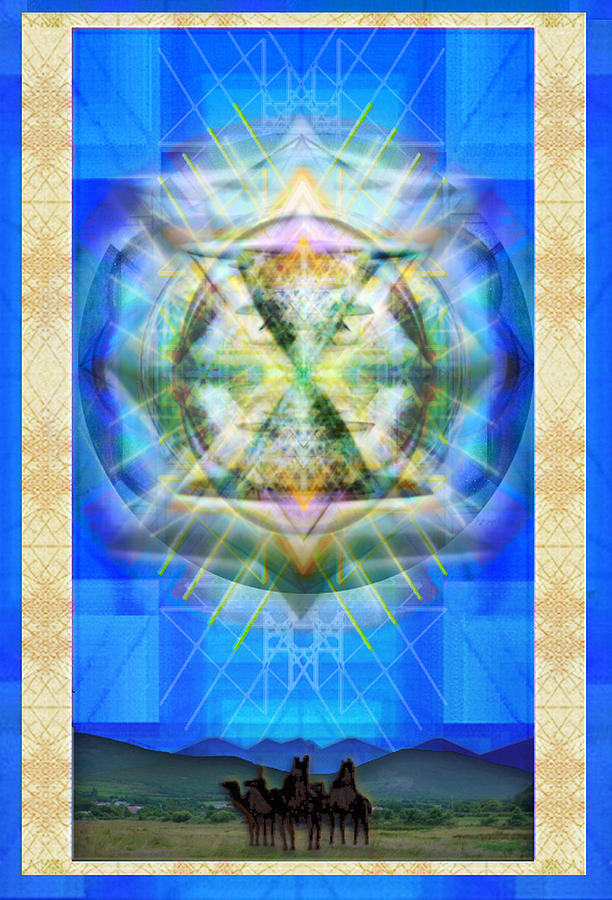 Solstice Digital Art - Chalice Star Over Three Kings Holiday Card Xbbrtii by Christopher Pringer