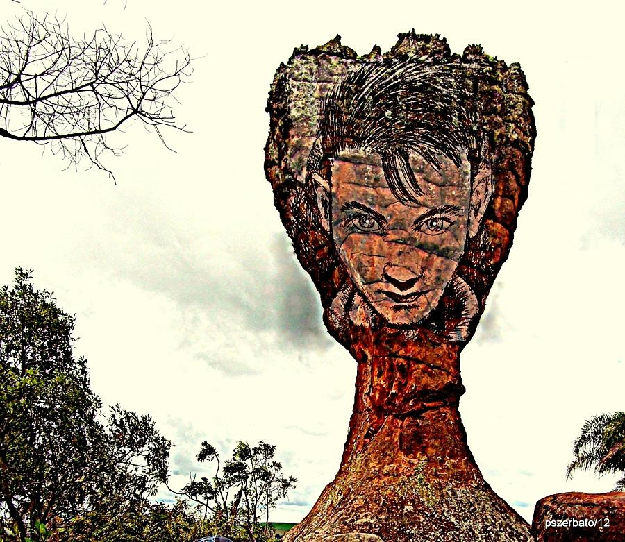 Wind Carries Digital Art - Chalice Symbolically Eroded By The Wind Of The Thoughtlessnes by Paulo Zerbato