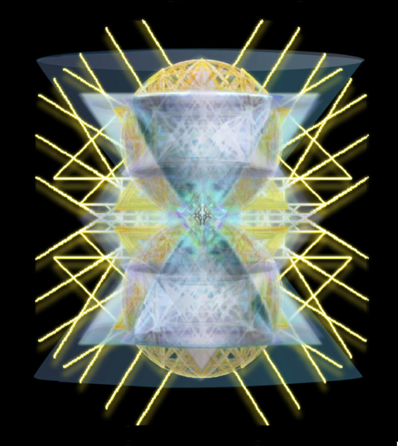 Chalices Digital Art - Chalices From Pi Sphere Goldenray II by Christopher Pringer