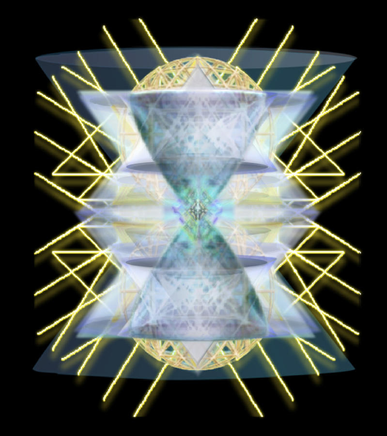 Chalices Digital Art - Chalices From Pi Sphere Goldenray IIi by Christopher Pringer
