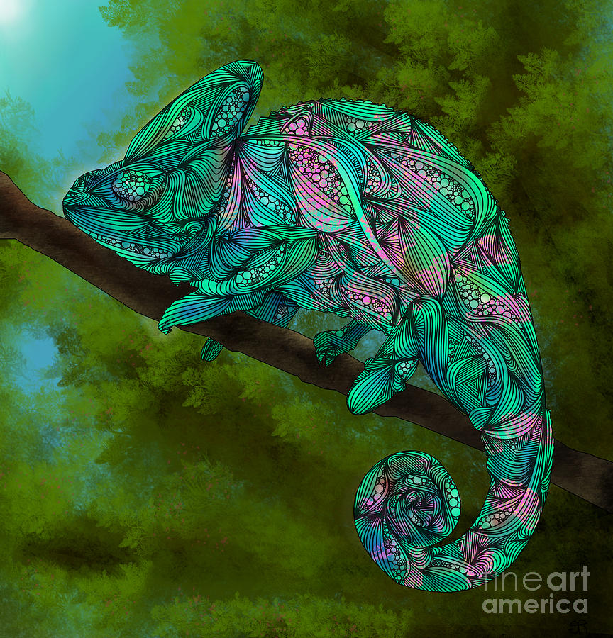 Chameleon Arts Tattoo Flash: Chameleon Digital Art By Ben Geiger