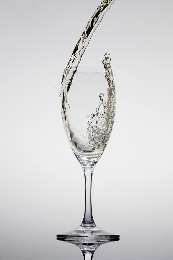 Vertical Photograph - Champagne Being Poured Into A Glass by Dual Dual