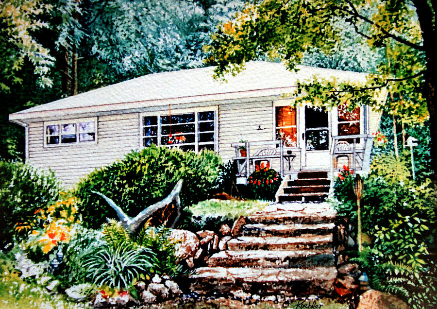 Architectural Painting Painting - Chandos Lake Cottage by Hanne Lore Koehler