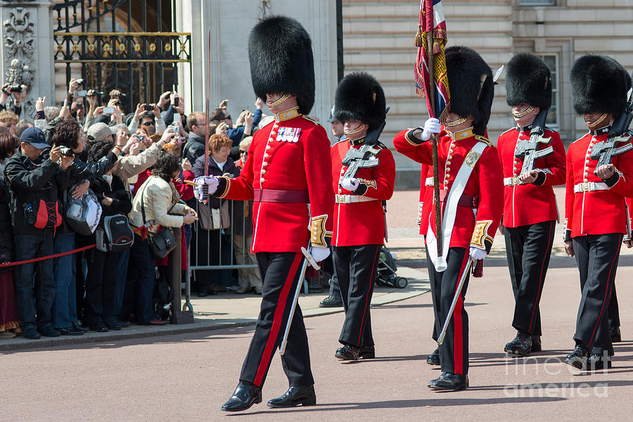 British Photograph - Changing of the guard at Buckingham palace by Andrew  Michael