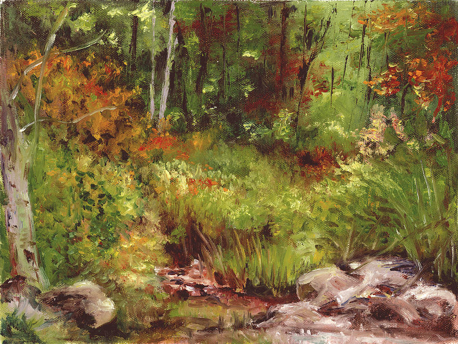 Landscape Painting - Changing Seasons by Aline Lotter