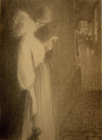 Vintage Drawing - Chansons De Femmes Tu Mapparus by Alexandre Theophile Steinlen