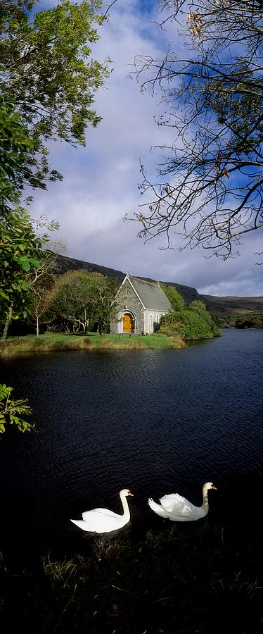 Birds Photograph - Chapel At Gougane Barra, Co Cork by The Irish Image Collection
