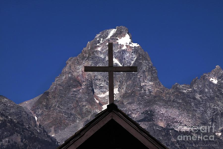 Cross Photograph - Chapel Cross by Clare VanderVeen