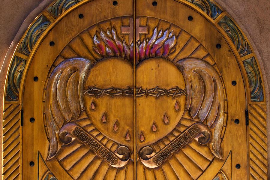 Chapel Photograph - Chapel Doors by Carol Leigh