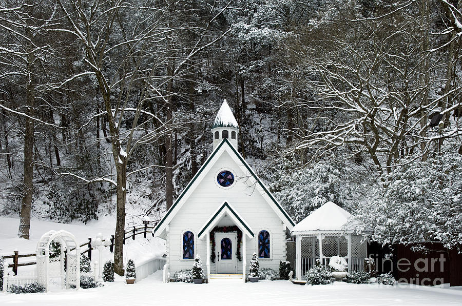 Wedding Photograph - Chapel In The Snow - D007592 by Daniel Dempster