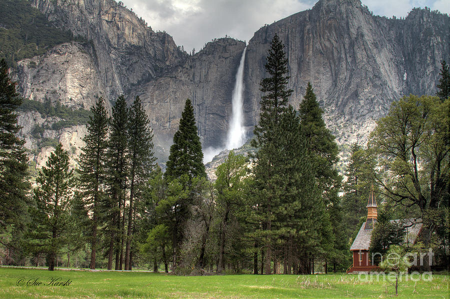 Yosemite Photograph - Chapel In The Valley by Sue Karski