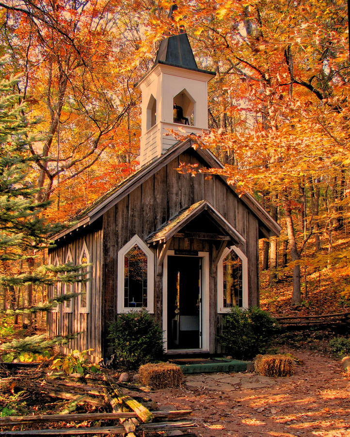 Chapel In The Woods Photograph By Victoria Sheldon