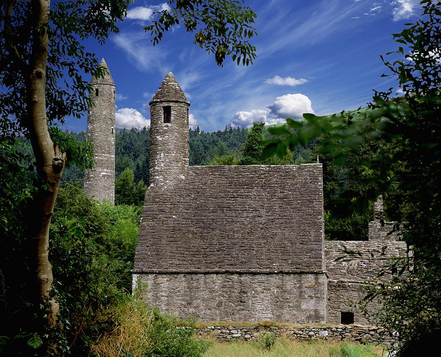 Architectural Exterior Photograph - Chapel Of Saint Kevin At Glendalough by The Irish Image Collection