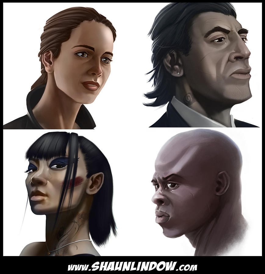 Character Portrait Digital Art - Character Portraits by Shaun Lindow