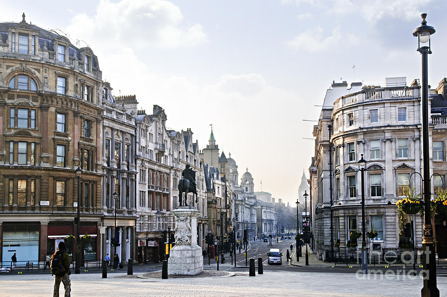 London Photograph - Charing Cross In London by Elena Elisseeva