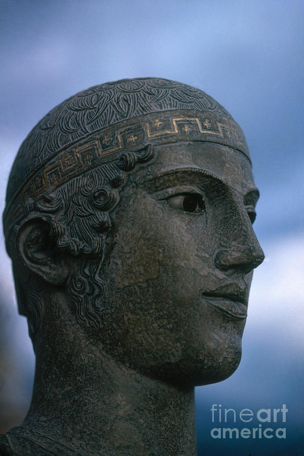 Statue Photograph - Charioteer Of Delphi by Photo Researchers