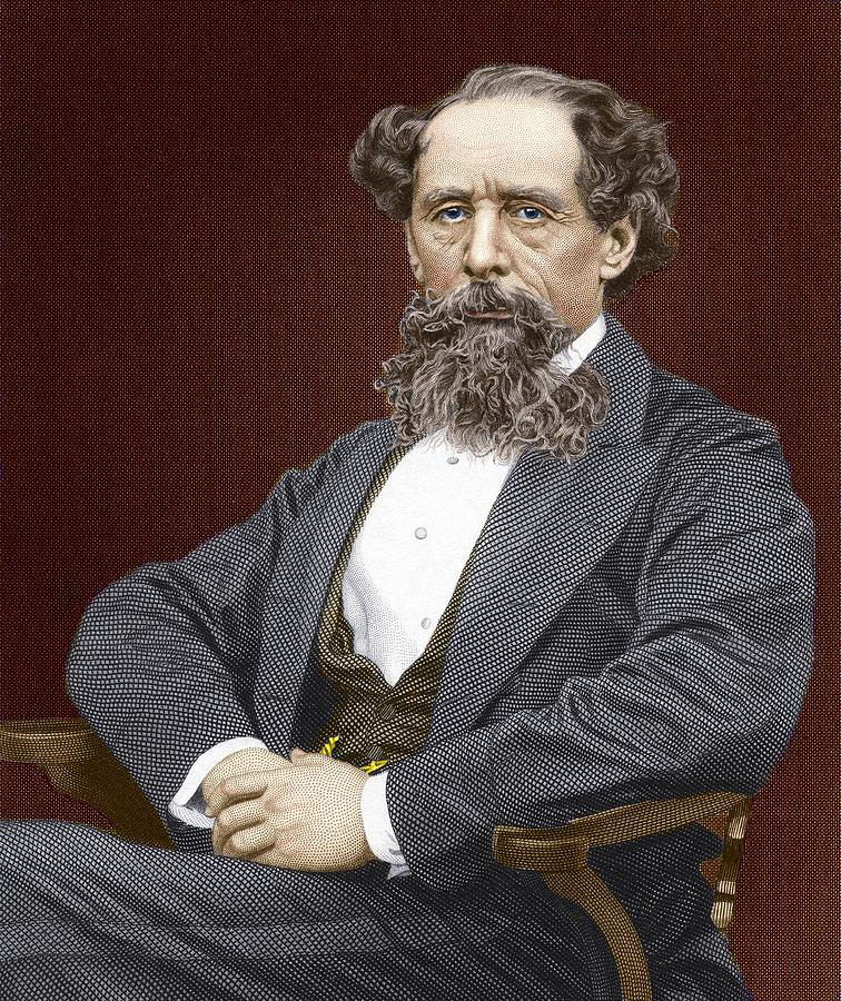 Charles Dickens Photograph - Charles Dickens, British Author by Sheila Terry