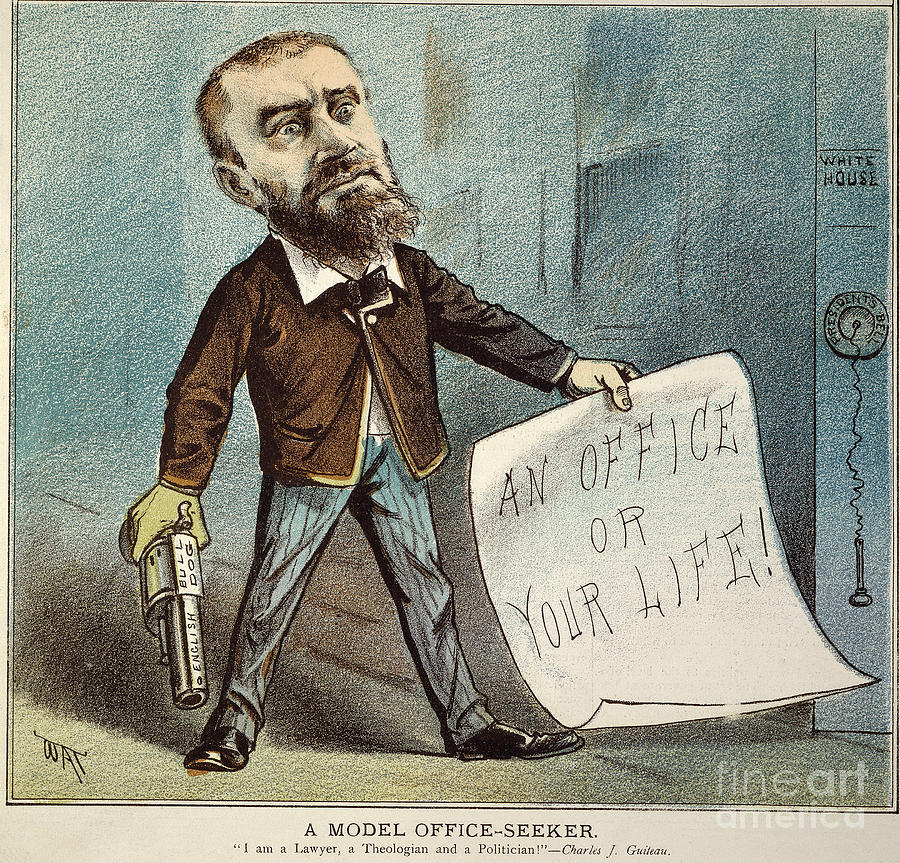 1881 Photograph - Charles Guiteau Cartoon by Granger