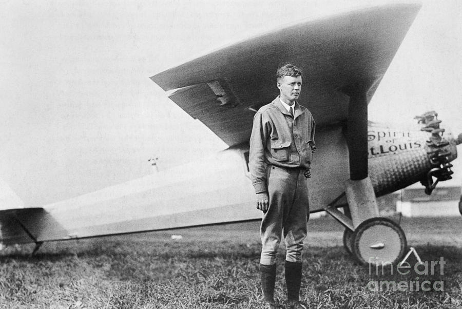 Charles Lindbergh Photograph - Charles Lindbergh American Aviator by Photo Researchers