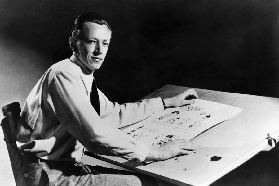 1950s Candids Photograph - Charles M. Schulz, 1922-2000, American by Everett