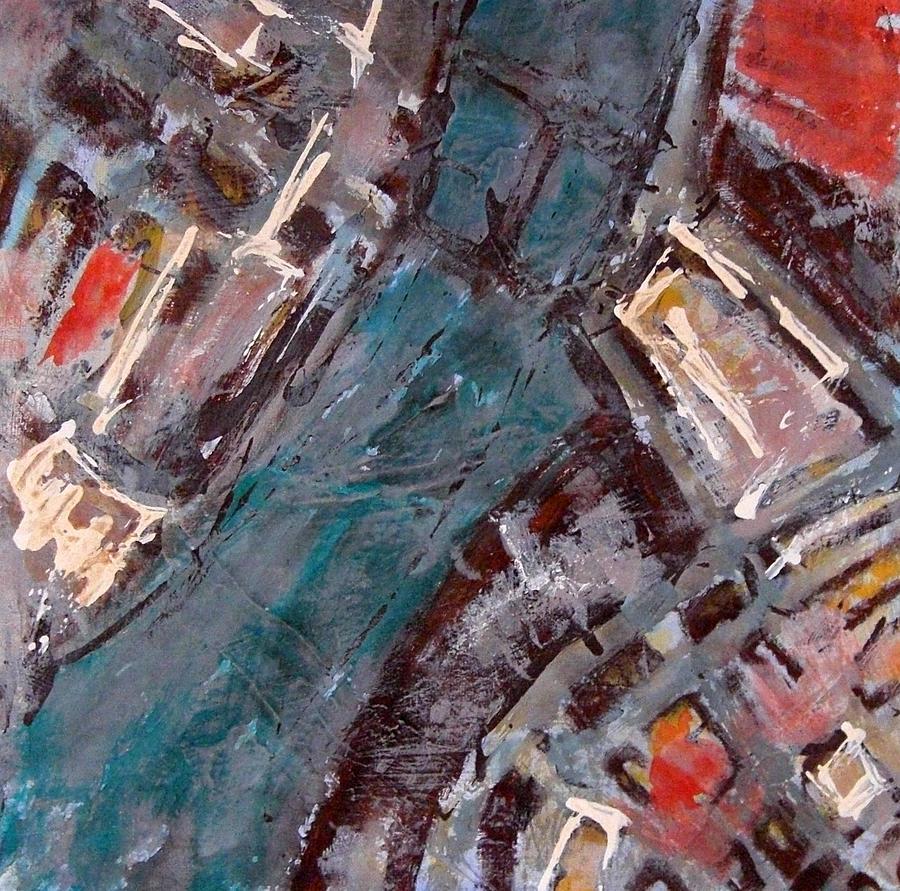 Boston Painting - Charles River Plan by Romina Diaz-Brarda