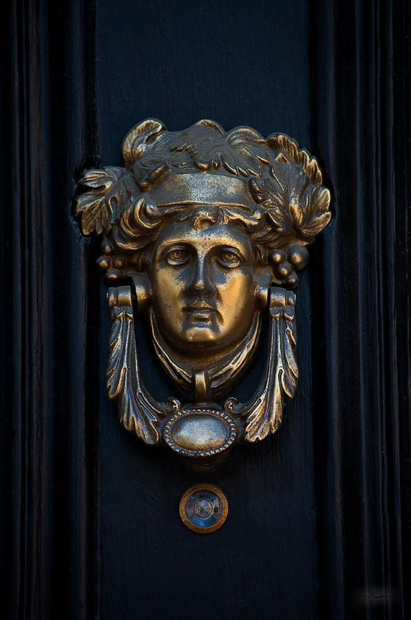 Charleston Photograph - Charleston Brass Door Knocker by Melissa Wyatt